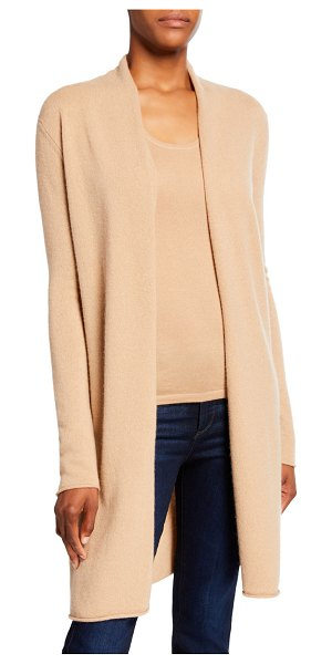 Neiman Marcus Cashmere Collection Basic Cashmere Duster Cardigan in camel
