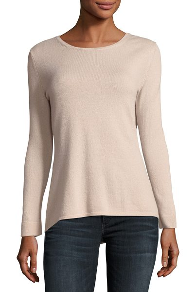 NEIMAN MARCUS CASHMERE COLLECTION MODERN 9 GG CREW NECK - 9GG, 2-ply cashmere sweater. Crew neckline. Long...