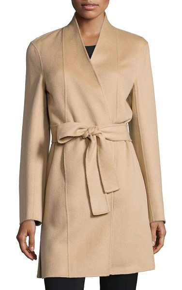 Neiman Marcus Cashmere Collection Double-face woven cashmere coat in camel - ONLYATNM Only Here. Only Ours. Exclusively for You....