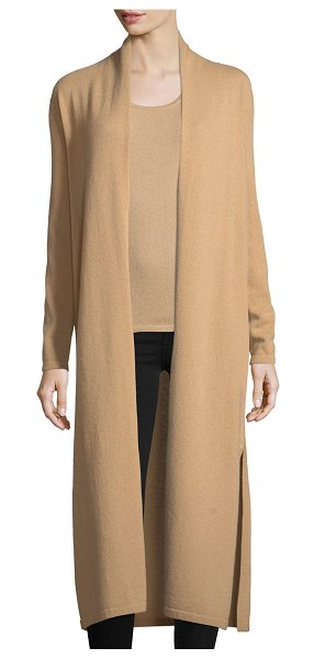 Neiman Marcus Cashmere Collection Long Cashmere Duster Cardigan in camel - 9GG, 2-ply cashmere long duster cardigan. Open front....