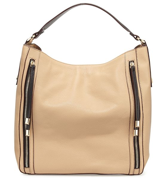 Neiman Marcus Gracie bucket leather in beige