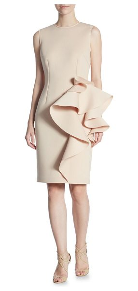 Nero by Jatin Varma nude sheath dress in nude - EXCLUSIVELY AT SAKS FIFTH AVENUE. On-trend sheath dress...