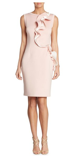 Nero by Jatin Varma ruffled cocktail dress in blush - EXCLUSIVELY AT SAKS FIFTH AVENUE. Ruffle detail defines...