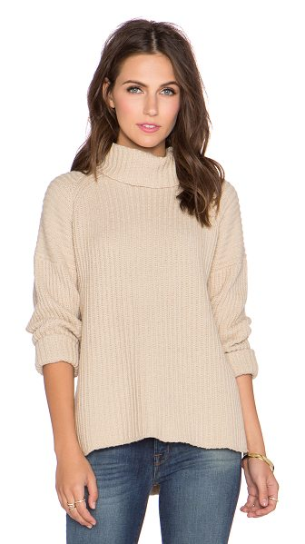 NEUW Splits turtleneck sweater - Cotton blend. Side seam slits. NEUW-WK7. 36507....