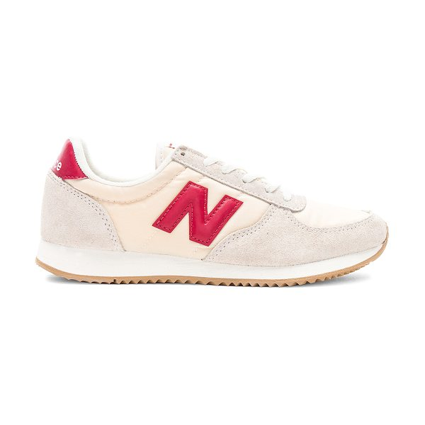 NEW BALANCE 220 Sneaker - Suede and textile upper with rubber sole. Lace-up front....