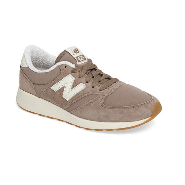 New Balance '420' sneaker in tan - Vintage-inspired style defines an easy, laid-back...