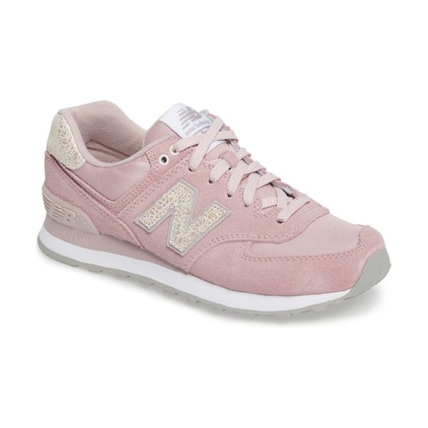 New Balance '574' sneaker in faded rose - Loaded with retro detailing, an old-school runner's...