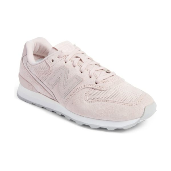 New Balance '696' sneaker in faded rose - New Balance relaunches its iconic 696 sneaker in lush...