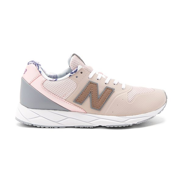 NEW BALANCE 96 Sneaker - Textile and man made upper with rubber sole. Lace-up...
