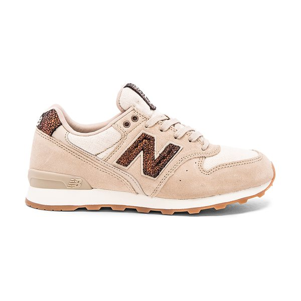 New Balance Capsule collection sneaker in beige - Suede and textile upper with rubber sole. Lace-up front....