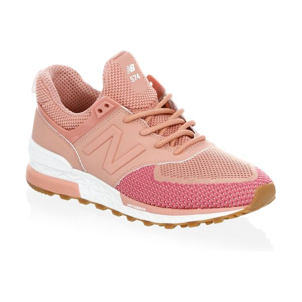 New Balance fabric low-top sneakers in dusted peach - Subtly styled lace-up fabric sneakers. Fabric upper....