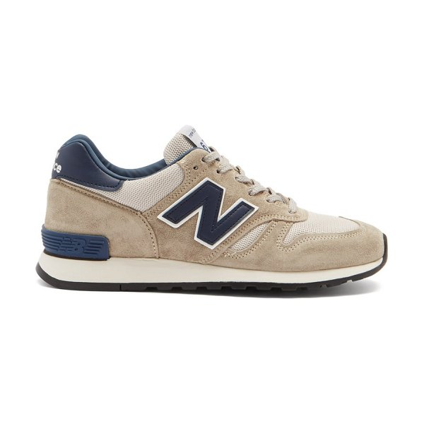 New Balance made in uk 670 suede and mesh trainers in beige navy