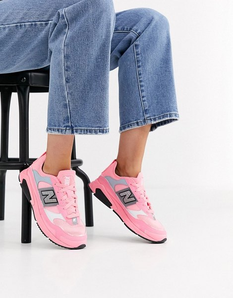 New Balance x-racer sneakers in bright pink in pink