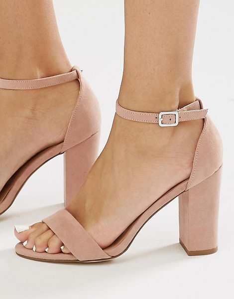 NEW LOOK 2 Part Block Heel - Sandals by New Look, Faux-suede upper, Ankle-strap...