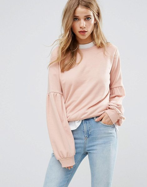 """New Look Balloon Sleeve Sweatshirt Sweater in pink - """"""""Sweater by New Look, Soft knitted fabric, Crew-neck,..."""