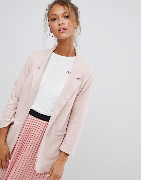 New Look blazer in nude - Blazer by New Look, Notch lapels, Open front, Functional...