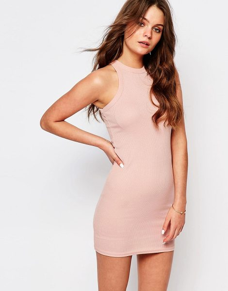 New Look Bodycon Mini Dress in pink - Body-Conscious dress by New Look, Soft-touch jersey,...