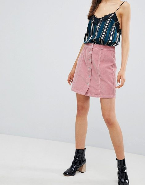 New Look button through cord mini skirt in lightpink - Mini skirt by New Look, Some serious daytime inspiration...