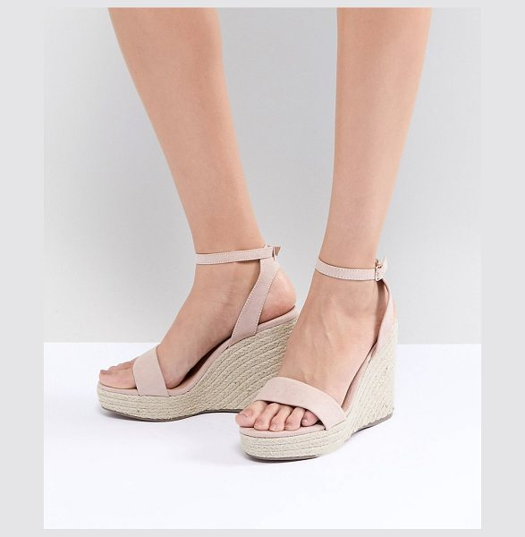 NEW LOOK Espadrille Wedge in beige - Wedges by New Look, Who else is feeling that summer...