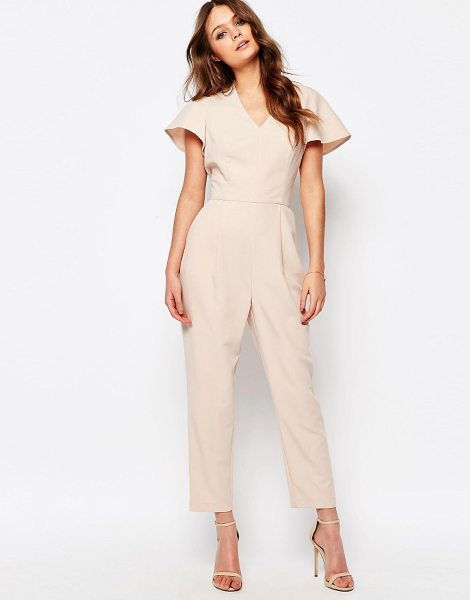 New Look Flutter Sleeve Jumpsuit in pink - J umpsuit by New Look, Lightweight woven fabric,...