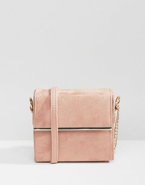 New Look Metal Box Cross Body Bag in pink - Cart by New Look, Metallic outer, Lined design, Single...