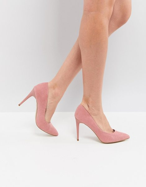 New Look pointed court shoe in pink - Shoes by New Look, Pointed toe, Slip-on style, High...
