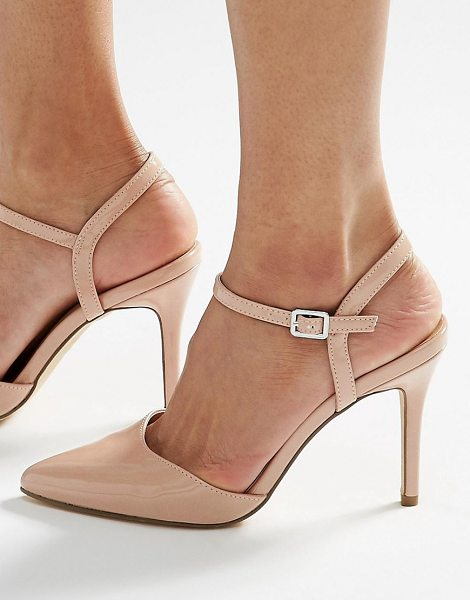 NEW LOOK Pointed heels in stone - Heels by New Look, Faux-leather upper, Glossy finish,...