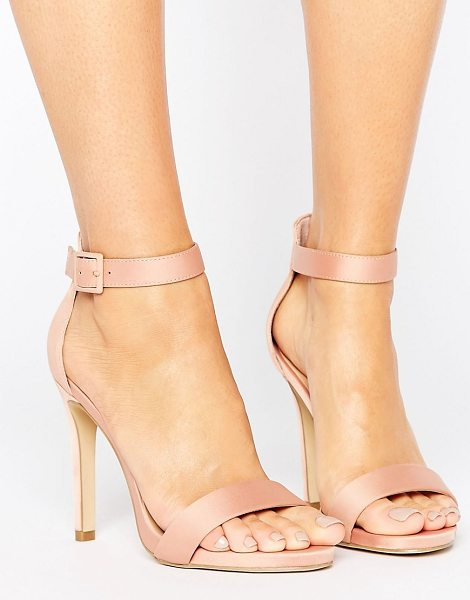 "New Look Satin Heeled Sandals in stone - """"Heels by New Look, Satin-style textile upper,..."