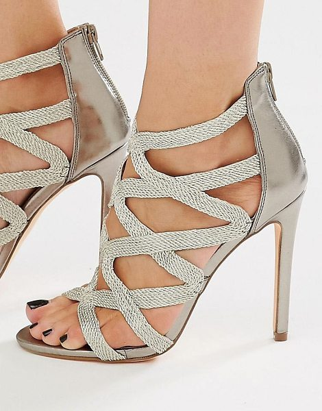 NEW LOOK Strappy Sandal - Sandals by New Look, Glitter flecked upper, Caged...