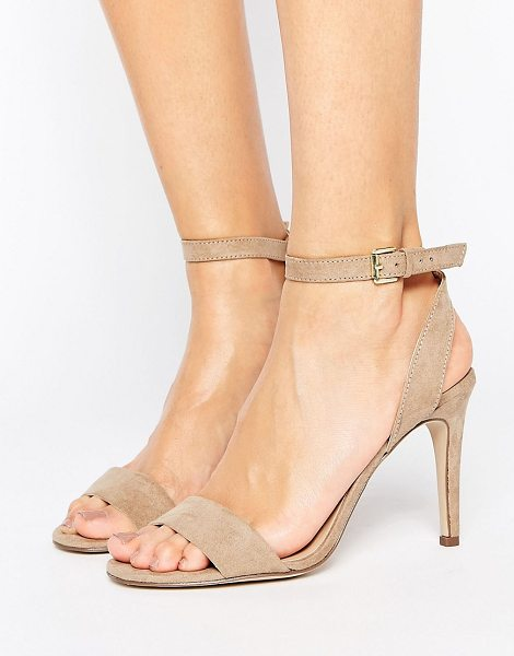 "NEW LOOK Suedette Barely There Heeled Sandal - """"Shoes by New Look, Faux-suede upper, Ankle-strap..."