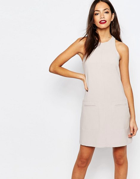 New Look Tailored Mini Dress in pink - Dress by New Look, Soft-touch woven fabric, Fully lined,...