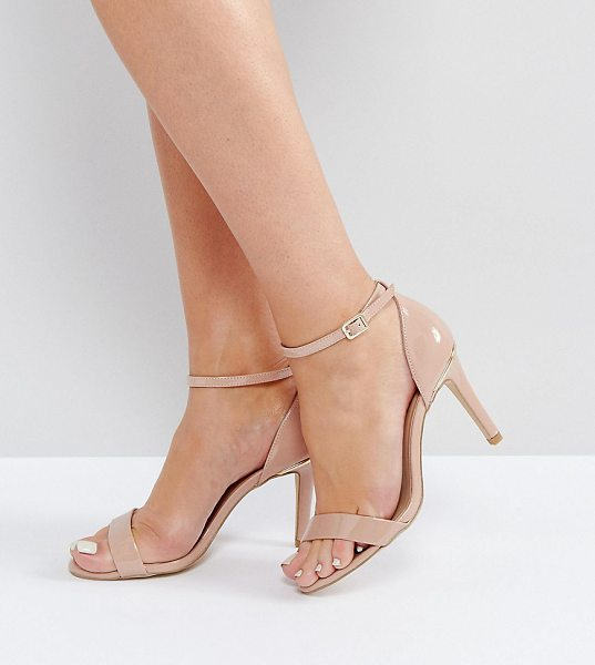 "NEW LOOK WIDE FIT Barely There Heeled Sandal - """"Heels by New Look, Patent upper, Ankle-strap..."