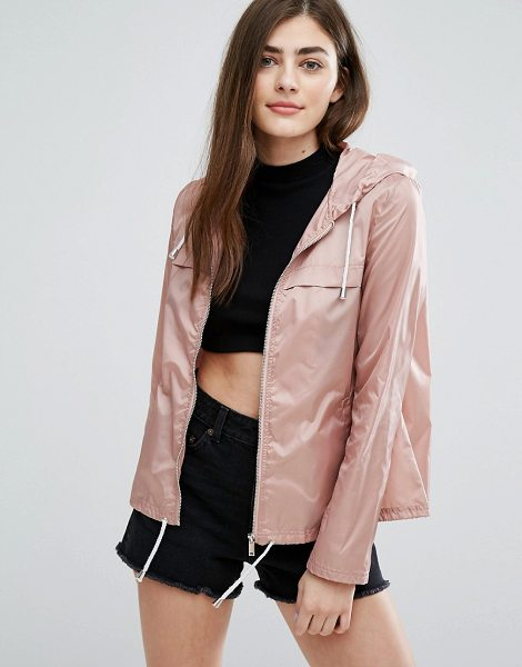 "New Look Zip Front Rain Jacket in pink - """"Raincoat by New Look, Durable outer, Showerproof..."