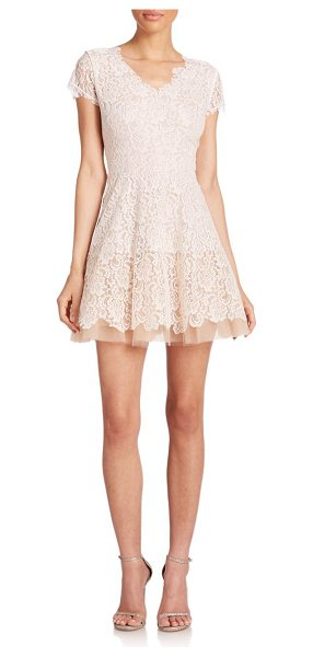 Nha Khanh Caelyn lace a-line dress in ivory-nude - Delicate lace and voluminous tulle meet on this...
