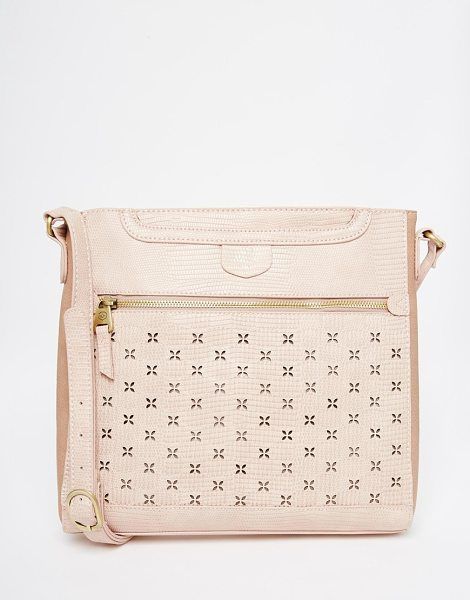 Nica Large cross body bag in dusky pink - Cart by Nica Textured faux leather outer Gold-tone...