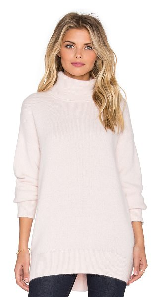 Nicholas Angora oversized turtleneck sweater in pink - 70% angora 30% nylon. Hand wash cold. NHOX-WK1. K0171A....