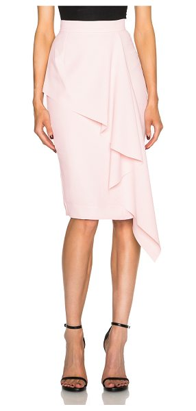 Nicholas Crepe angle frill skirt in pink - Self: 100% poly - Lining: 95% poly 5% spandex.  Made in...