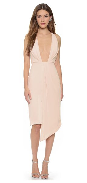 NICHOLAS Crepe deep v gathered dress - A deep, squared neckline brings sultry edge to this...