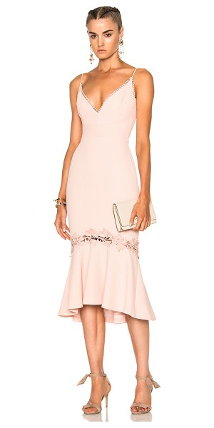 Nicholas Crepe Fitted Panel Dress in pink - Self, Trim & Lining: 100% poly.  Made in Australia.  Dry...
