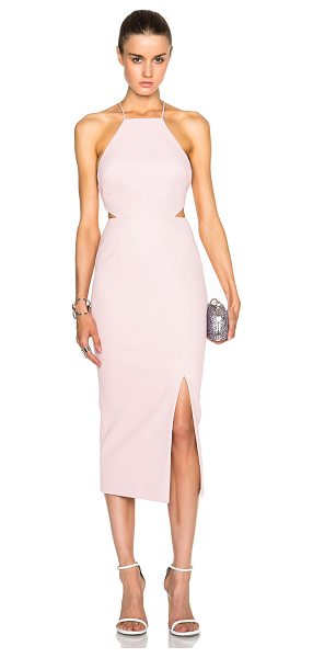 Nicholas Cross back dress in pink - Self: 100% poly - Contrast Fabric: 72% poly 23% viscose...