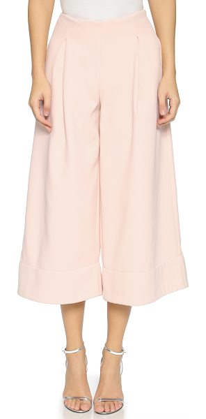 Nicholas Double bonded wide culottes in shell - Modern Nicholas culottes gain structure with double...