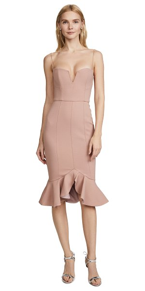 NICHOLAS flip hem bra dress - Fabric: Crepe Sheath dress silhouette Midi length V neck...