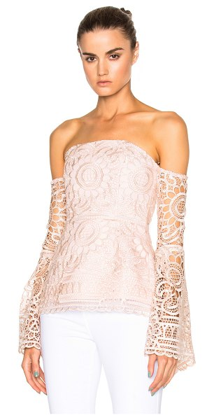 NICHOLAS Floral Lace Eva Top - Self: 100% poly - Contrast Fabric & Lining: 95% poly 5%...