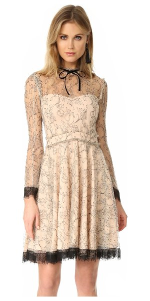 Nicholas french lace mini swing dress in nude - A victorian-inspired Nicholas dress made from delicate...