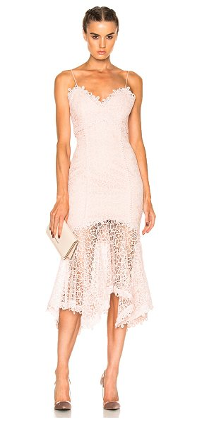 Nicholas Guipure Lace Cocktail Dress in pink - Self & Contrast Fabric: 100% poly - Lining: 95% poly 5%...