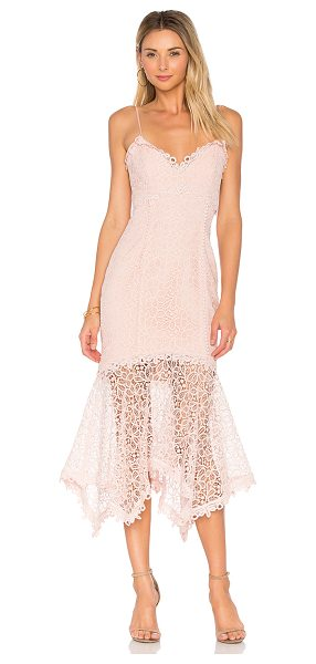 Nicholas Guipure Lace Dress in pink - Self & Contrast: 100% polyLining: 95% poly 5% spandex....