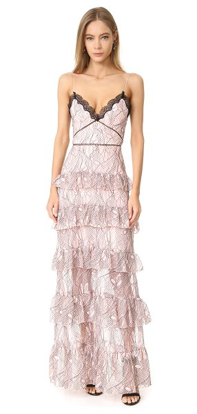 NICHOLAS iris lace gown - Contrast cording accentuates the floral pattern on this...