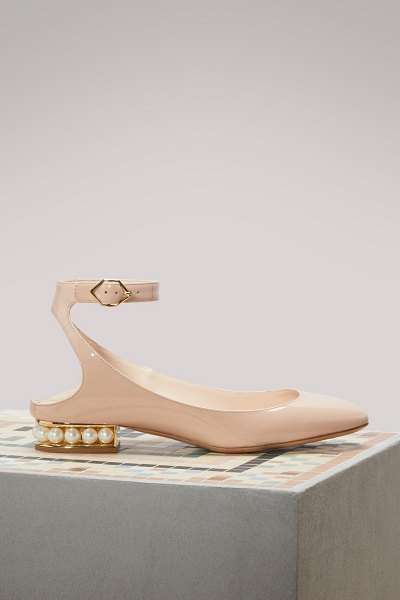 Nicholas Kirkwood Lola Patent Leather Ballerina Flats in light blush - Sculpted and finely crafted, Nicholas Kirkwood's Lola...