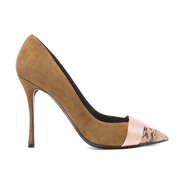 Nicholas Kirkwood Triband suede pumps in neutrals,animal print - Suede upper with leather sole.  Made in Italy.  Approx...