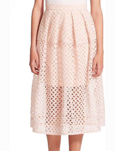 Nicholas Lattice woven skirt in shell - In a geometric take on the classic lace skirt, this...